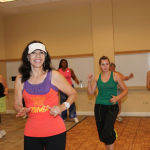 Millan teaching Zumba
